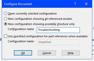 SOLIDWORKS Configure Document