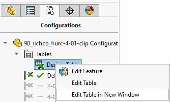 Edit Design Table