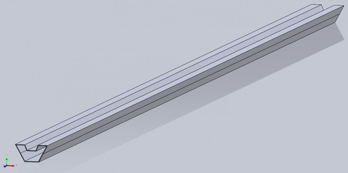 Beam with split lines