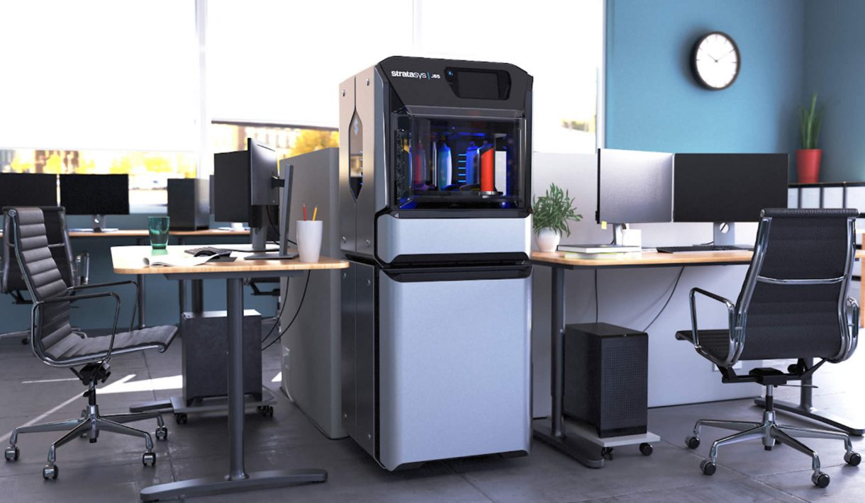 Stratasys J55 3D printer in the office