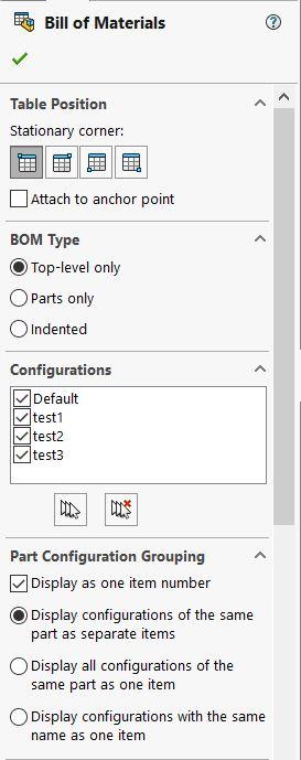 BOM Configurations