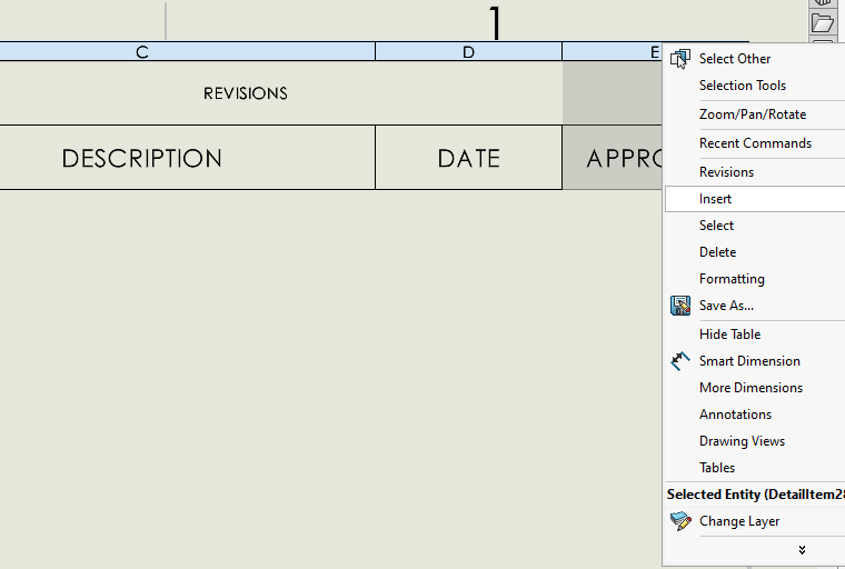 SOLIDWORKS PDM Custom Revision Table