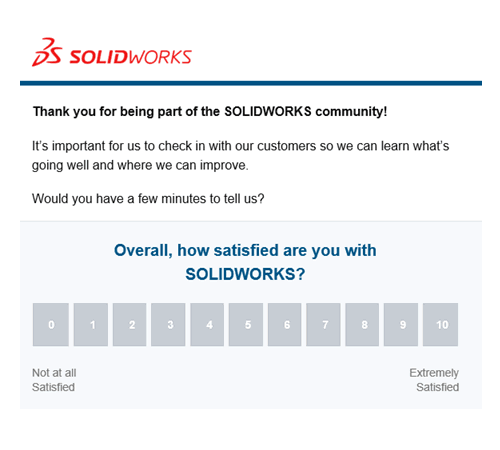 SOLIDWORKS Survey Email