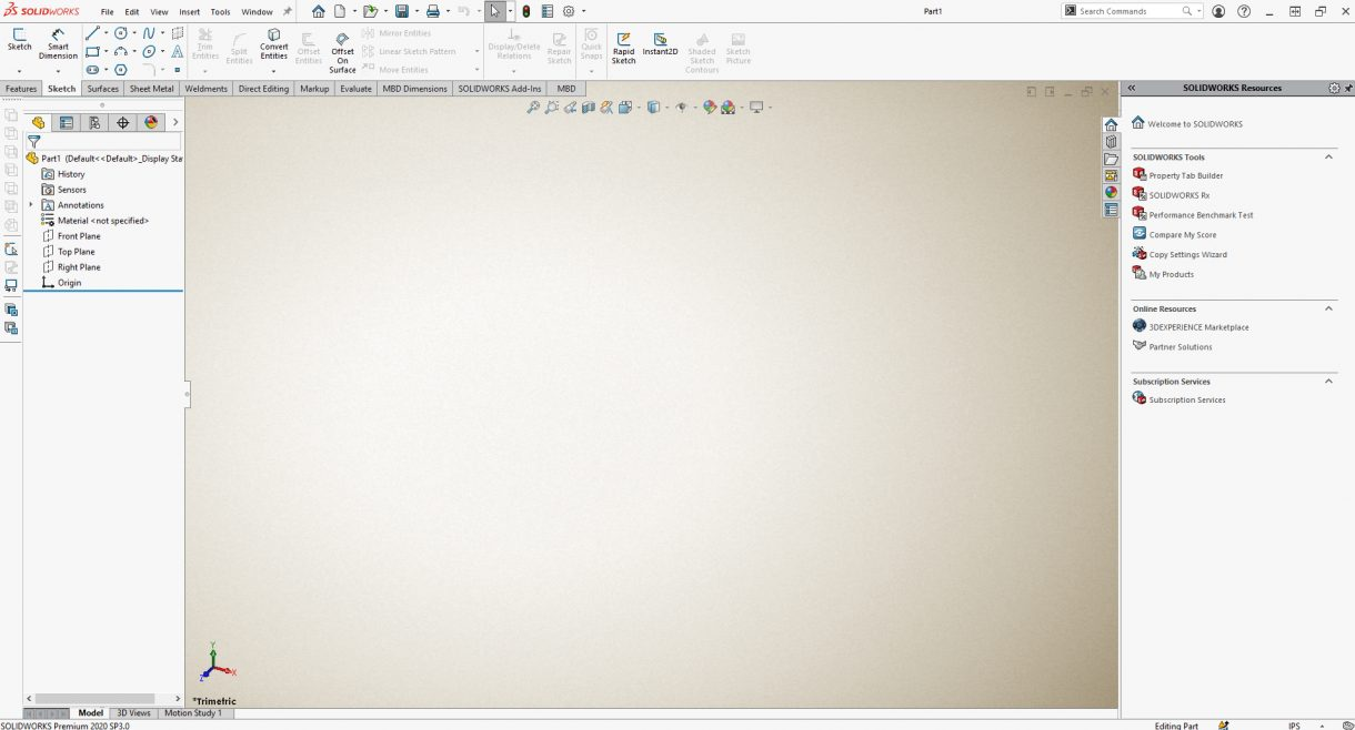 SOLIDWORKS Model Background parchment.png is applied