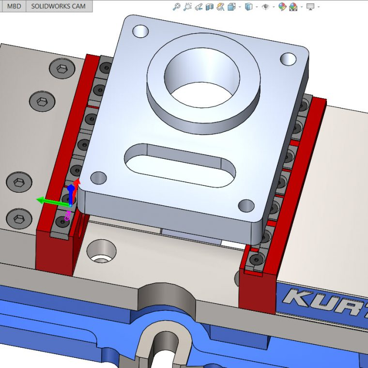 SOLIDWORKS CAM Avoid Areas