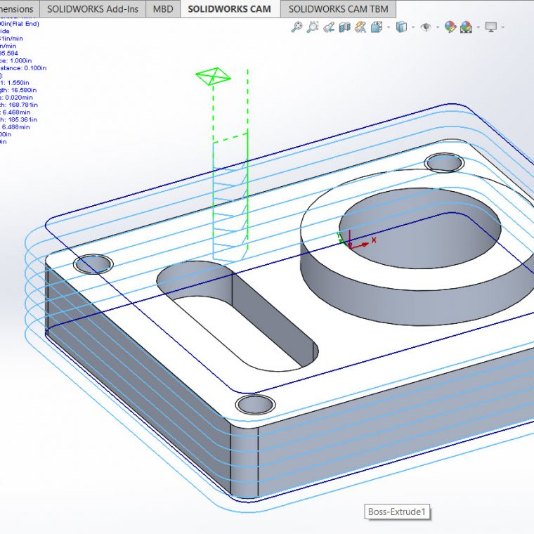 SOLIDWORKS CAM Tabs