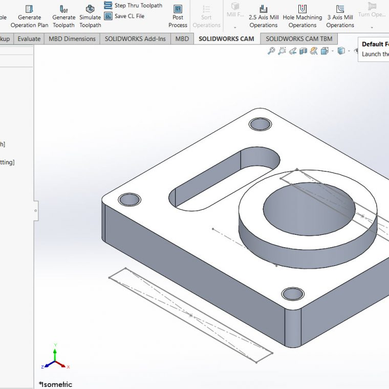 SOLIDWORKS CAM Feature Strategies