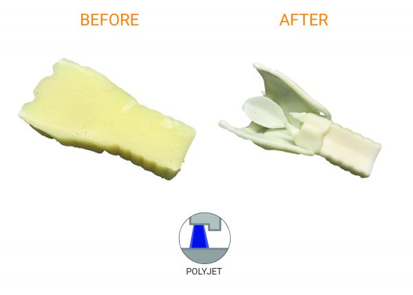 Polyjet part post process results