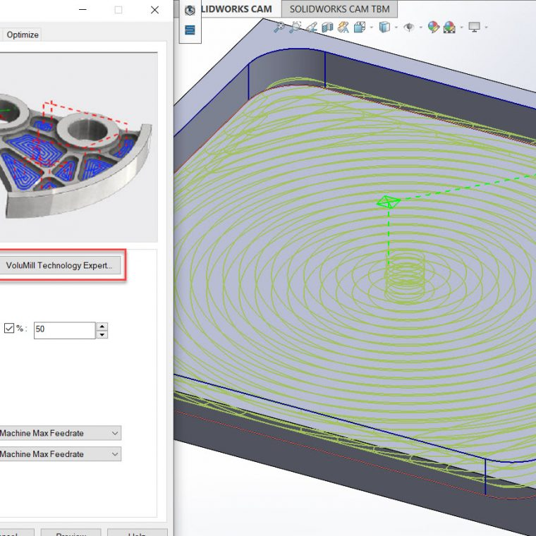 SOLIDWORKS CAM Professional with VoluMill