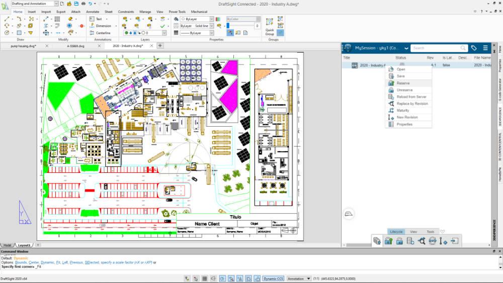 3DEXPERIENCE DraftSight Data Management