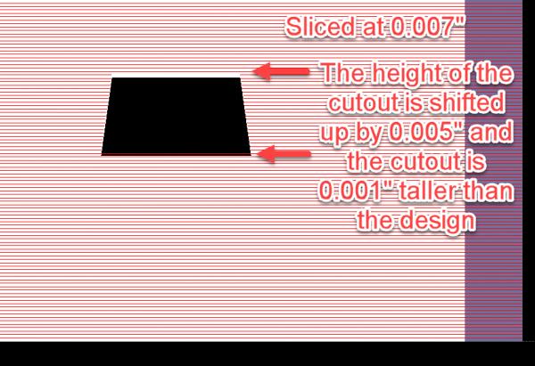 "3D part sliced at 0.007"""