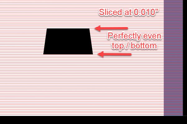 "3D part sliced at 0.010"""
