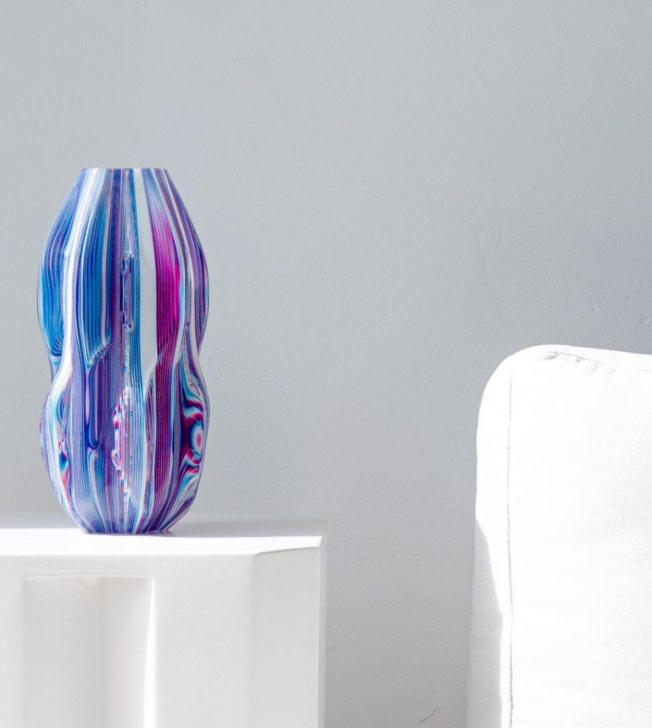 Illusory material 3D printed vase