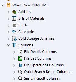 SOLIDWORKS PDM 2021 Customizing Columns