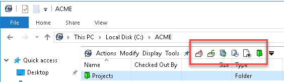 SOLIDWORKS PDM Quick Access Toolbar