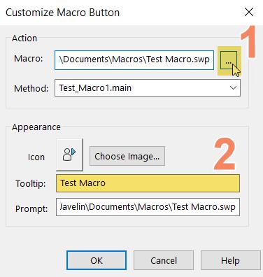 Customize Macro Button