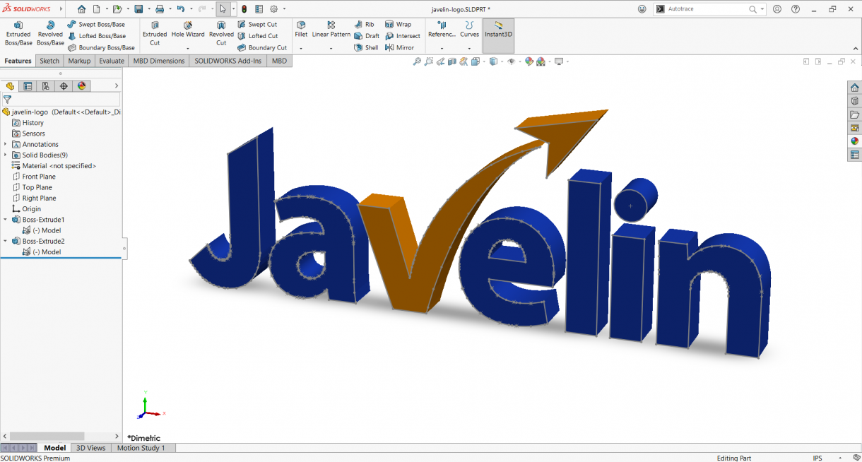 Javelin SOLIDWORKS Logo Completed