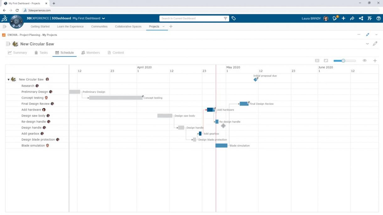 Project Planner Schedule View