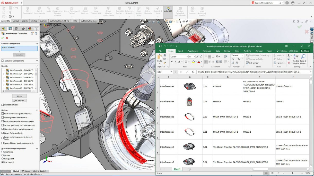 SOLIDWORKS 2021 Interference Detection Report
