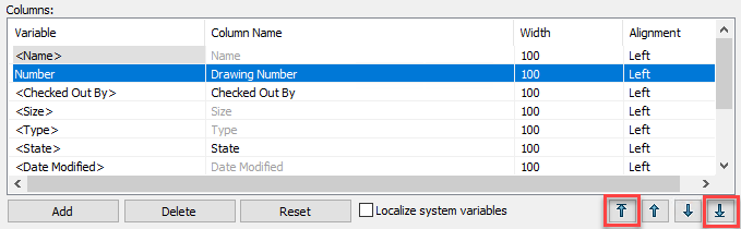 Configuring Column Sets - Move to Top-Bottom
