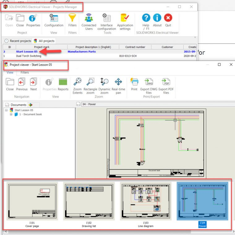 SOLIDWORKS Electrical Viewer