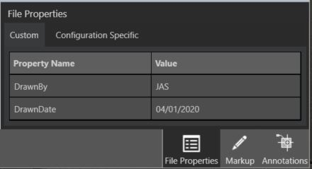 SOLIDWORKS part/assembly Custom File Properties