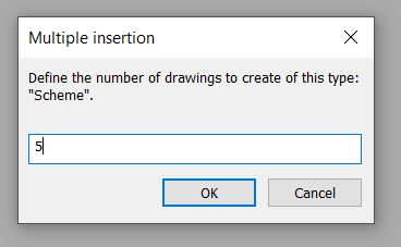 Multiple insertion dialog box