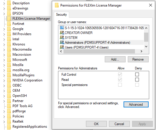 Ensuring Logged in User has Full Permissions