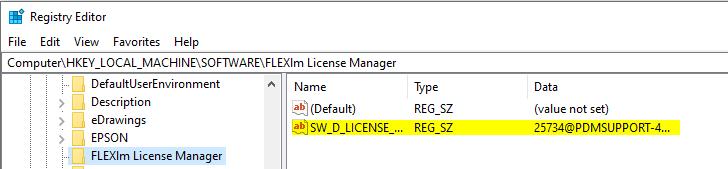 Confirming License Server Path