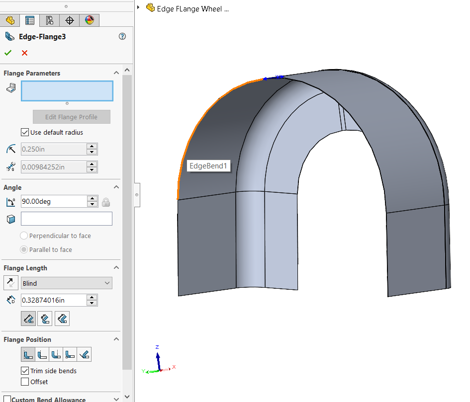 No circular edge flange with SOLIDWORKS 2020 and prior