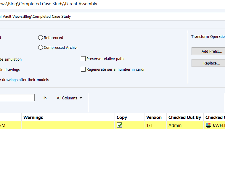 SOLIDWORKS PDM Private State Files