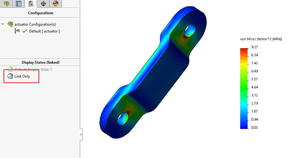 SOLIDWORKS Simulation Display States