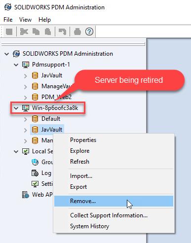 Remove Replicated Archive - RMB Remove