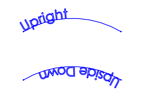 SOLIDWORKS Sketch Text Orientation- Arc