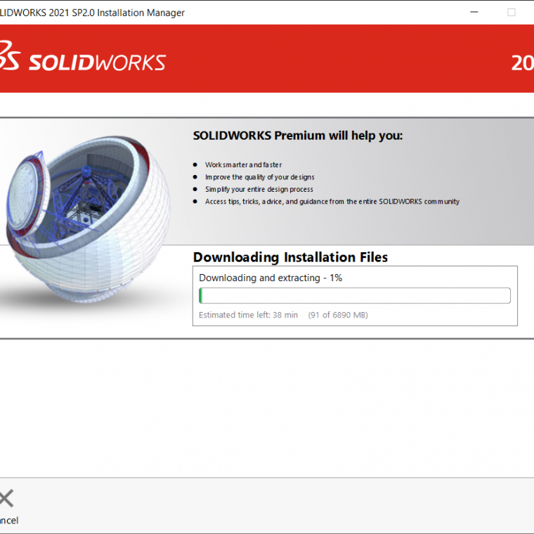 SOLIDWORKS Installing