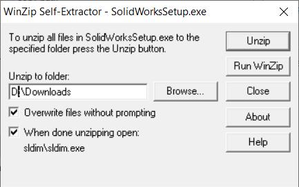 Winzip Self Extractor