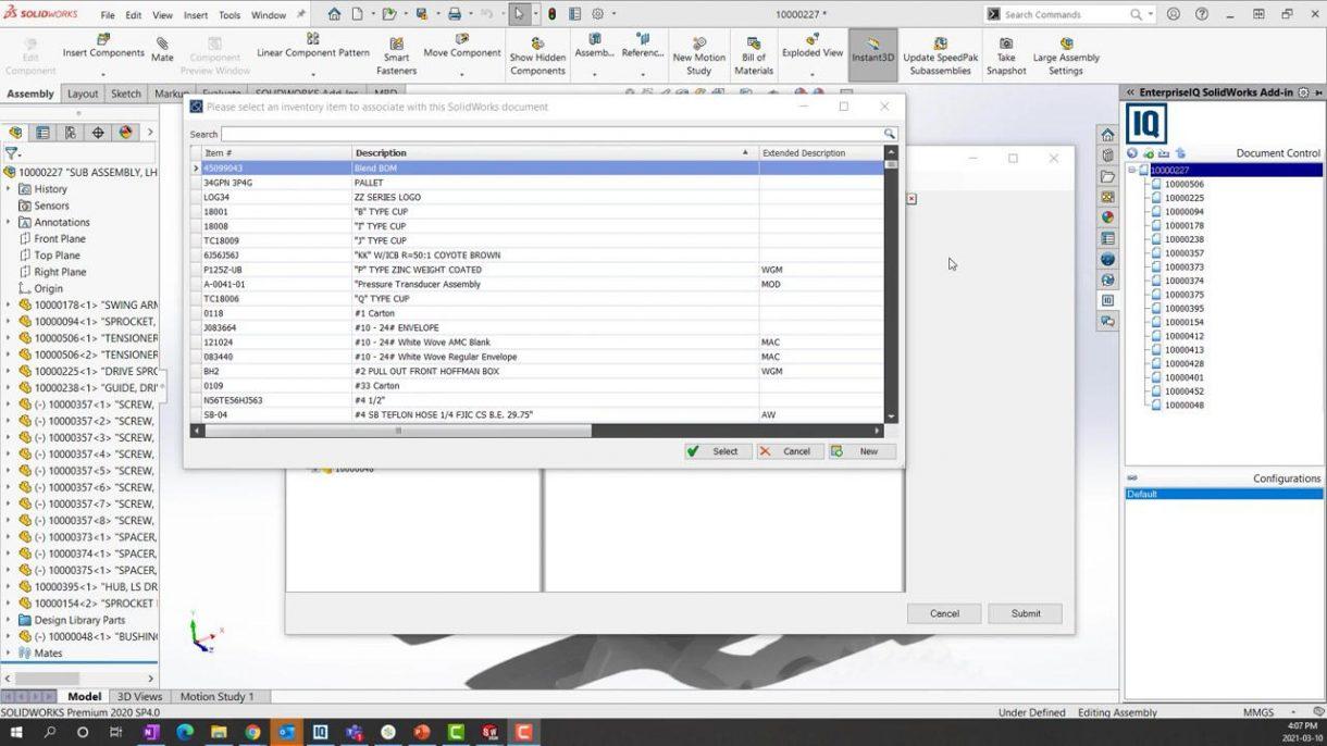 DELMIA   Works SOLIDWORKS Inventory Item