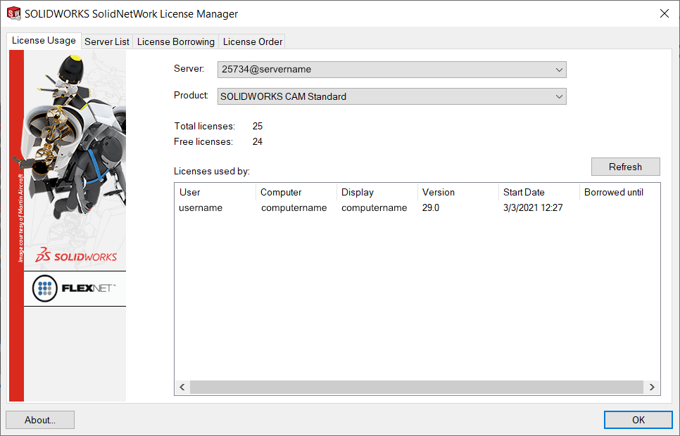 SolidNetWork Client License Usage