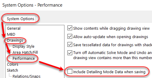 Include Detailing mode Data when saving