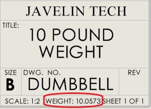 Weight custom property in drawing sheet