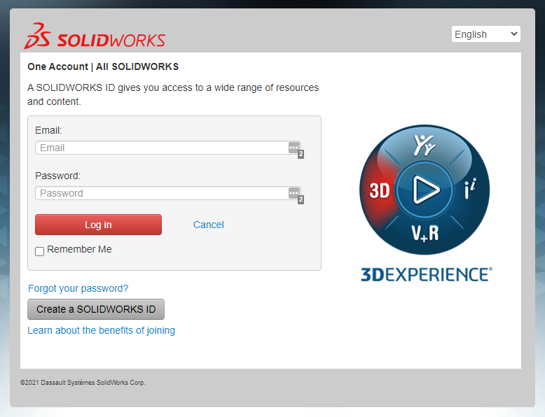 SOLIDWORKS ID Account