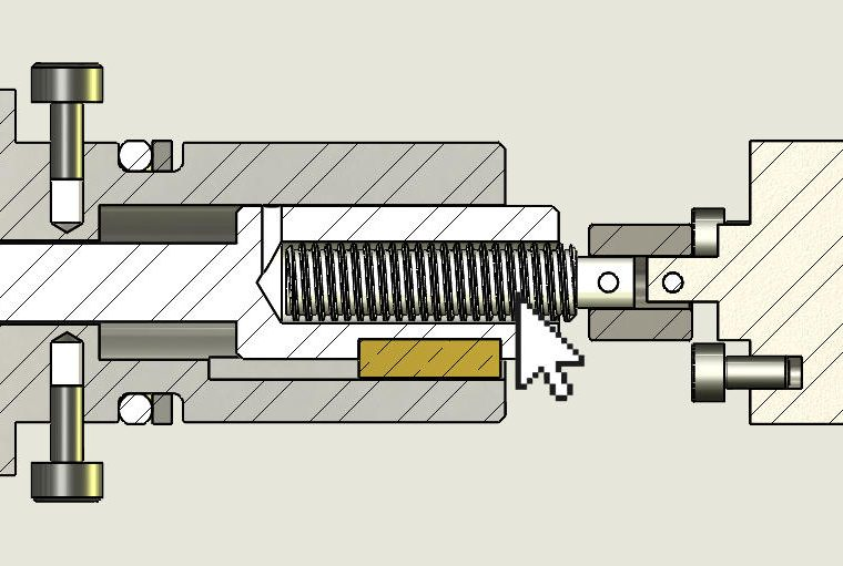 Section View InFastener Excluded Component