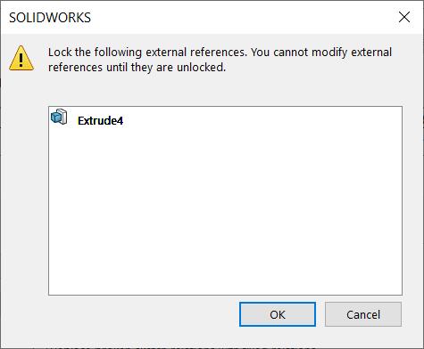 Lock external reference warning