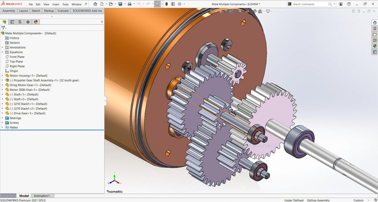 Multiple Gear Components
