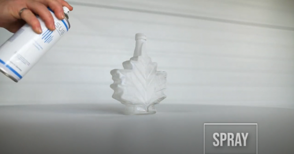 Spraying object with 3D scan spray
