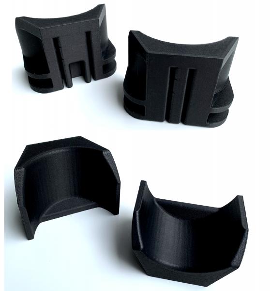Heel cup final 3D printed part in Nylon 12CF