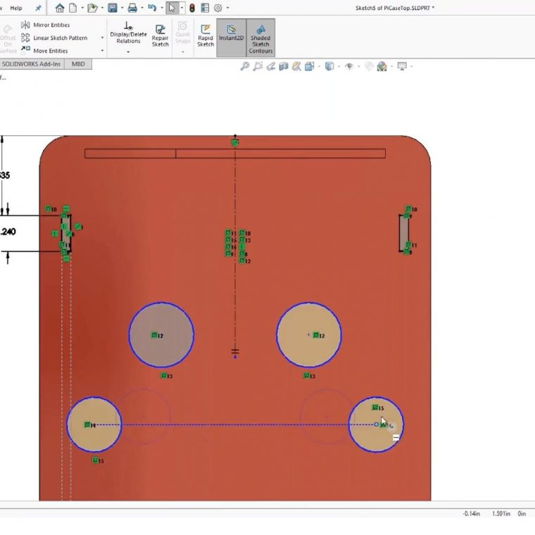 SOLIDWORKS Mirror Feature