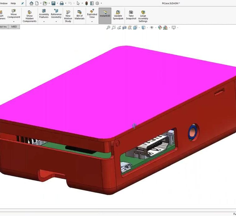 SOLIDWORKS Rotate Part
