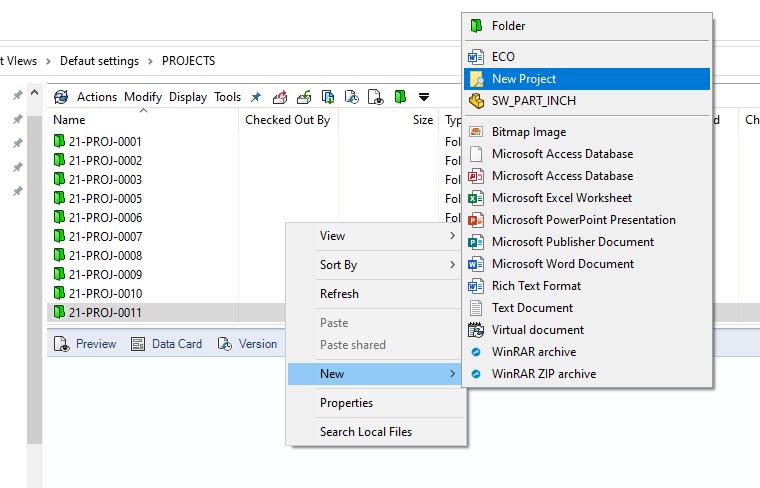 SOLIDWORKS PDM Server Project