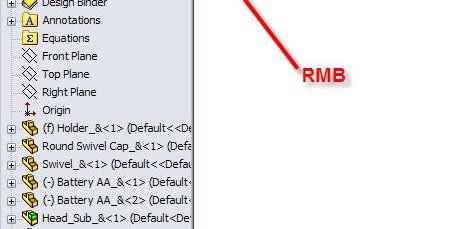 RMB on the Display Pane double arrow